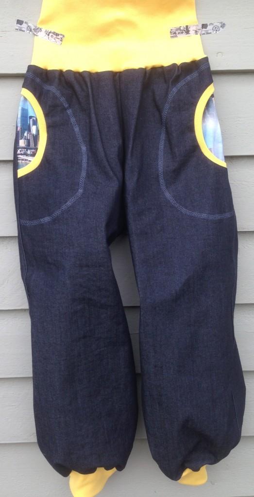 Tøff bukse, front.