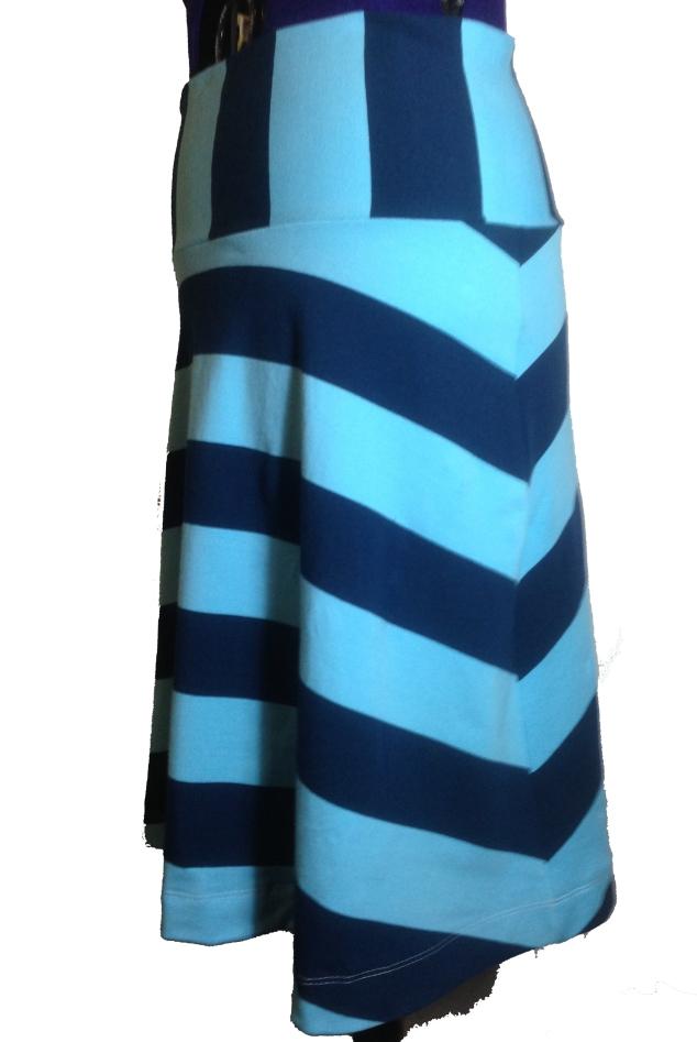 Blå striper side